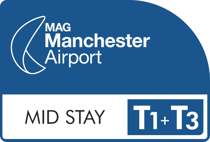 Manchester Airport Mid Stay Terminals 1 & 3 logo